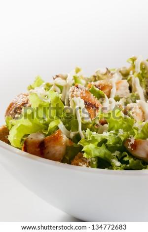 Caesar salad with chicken - stock photo