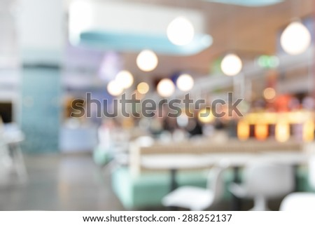 Cafe interior out of focus  - defocused background - stock photo
