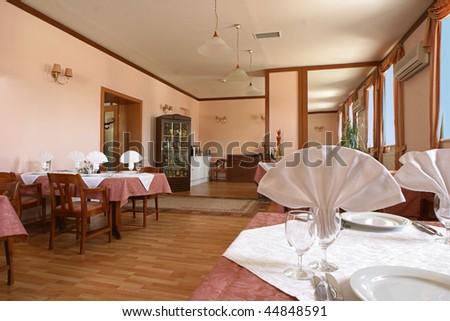 cafe restaurant dining - stock photo