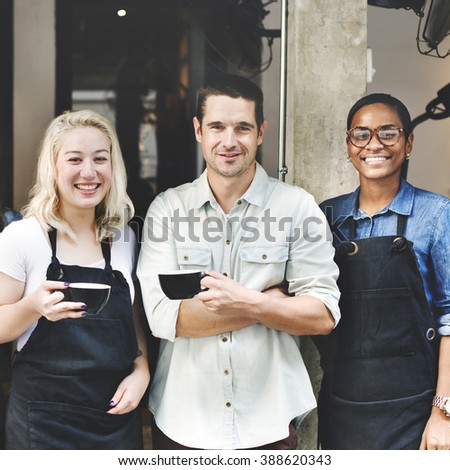 Cafeteria Barista Cafe Occupation Restaurant Concept - stock photo