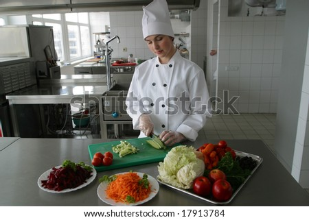 cafeteria, dinning-room, utensil, food, hospital - stock photo
