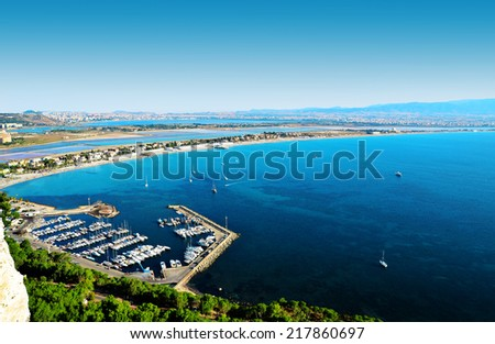 cagliari Poetto, Marina piccola - stock photo