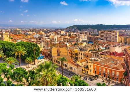 Cagliari, Sardinia, Italy cityscape. - stock photo