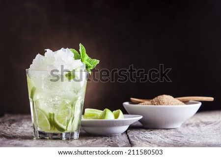 Caipirinha cocktail - stock photo