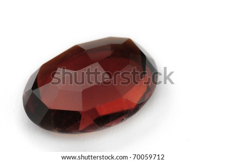 cairngorm Jewel isolated against a white background - stock photo
