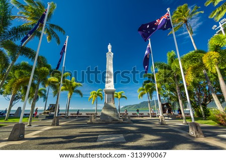 CAIRNS, AUS - JUN 22 2014: Cairns Cenotaph and Memorial site. It is a place of cultural and historic significance for the Cairns community. - stock photo