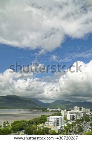 Cairns in summer Australia North Queensland - stock photo