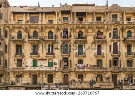 Cairo Apartment Building - stock photo