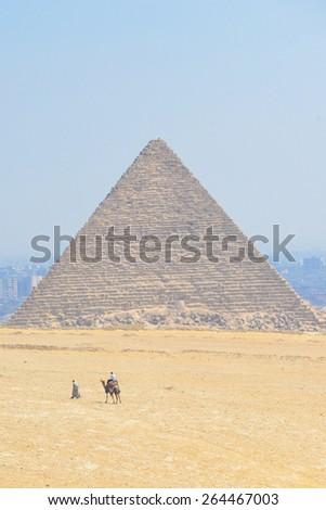 Cairo - Pyramid at Giza, Egypt - stock photo