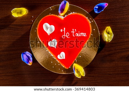 cake for Valentine day - stock photo