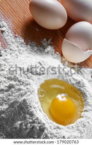 cake ingredients - stock photo
