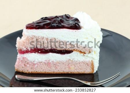 cake on canvas background - stock photo