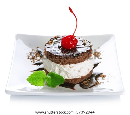 Cake over white - stock photo
