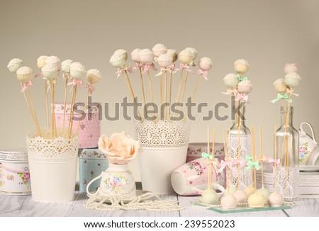 Cake pops - stock photo
