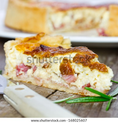 cake with bacon - stock photo