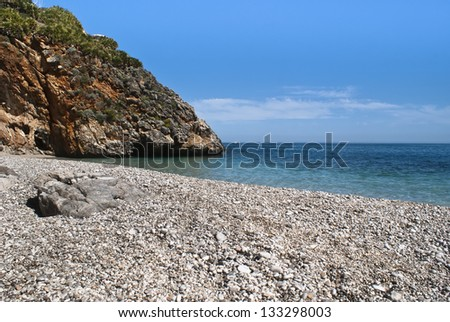 Cala craperia, Zingaro Natural Reserve, Sicily, Italy - stock photo