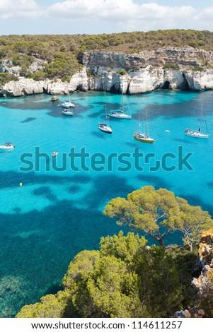 Cala Macarella - Cala Macarelleta - Menorca - Balearic islands - Spain - stock photo