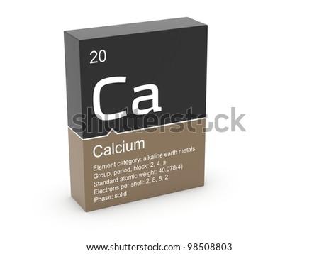 Calcium from Mendeleev's periodic table - stock photo