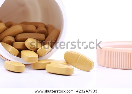Calcium health care products - stock photo