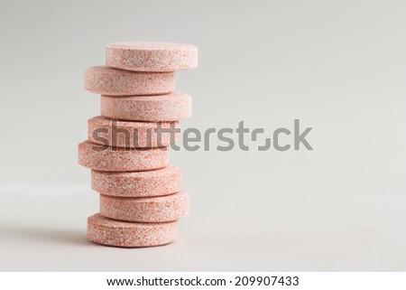 Calcium pills - stock photo