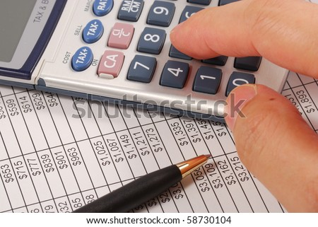 Calculate the amount of money needed for retirement - stock photo