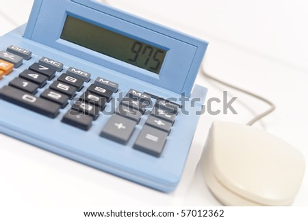 Calculating ( CA Tax on Screen ) - stock photo