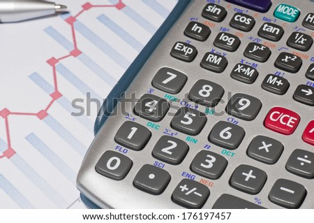 Calculating sales growth - stock photo