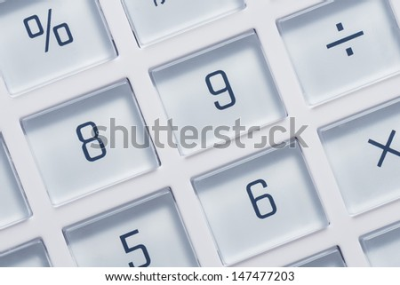 Calculator buttons.Close-up shot. - stock photo