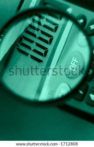Calculator close up-calculation of increases profit - stock photo