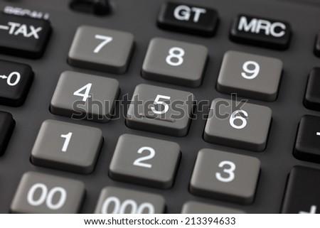 Calculator closeup. - stock photo