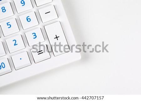 Calculator closeup - stock photo