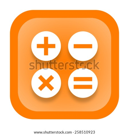 Calculator icon - stock photo