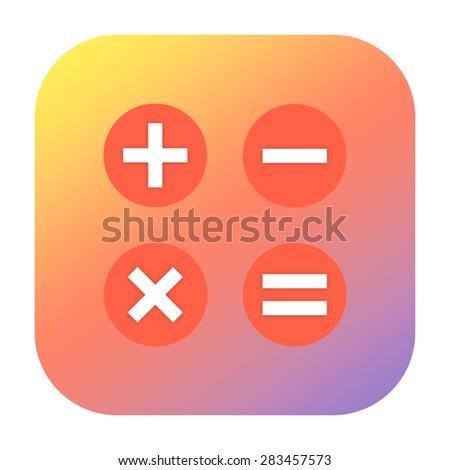 Calculator icon - stock photo