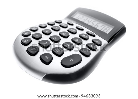 Calculator isolated over white background - stock photo