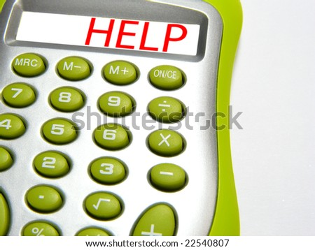 Calculator with word â??helpâ? - stock photo