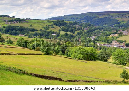 Calder Valley, West Yorkshire - stock photo