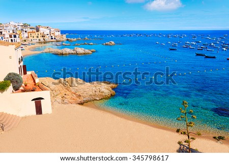 Calella de Parafrugell in Costa Brava of Girona at Catalonia Spain - stock photo