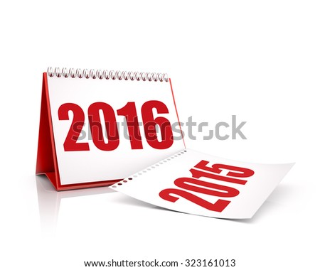Calendar 2016 and 2015 - stock photo