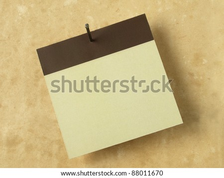 Calendar date in blank on a old paper background - stock photo