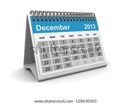 Calendar 2013 - December - stock photo