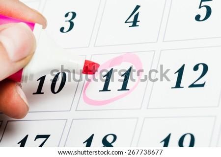 Calendar, desk, isolated. - stock photo