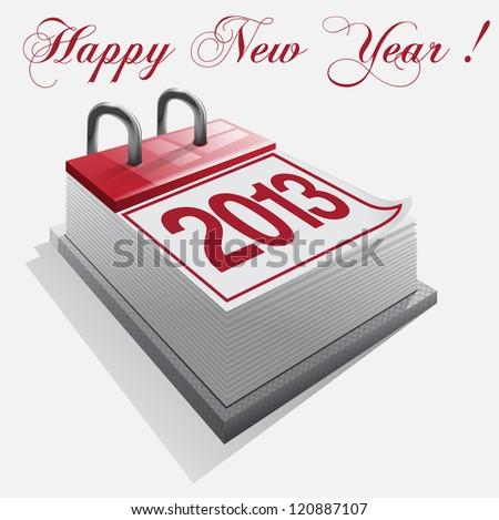 calendar Happy New Year - stock photo