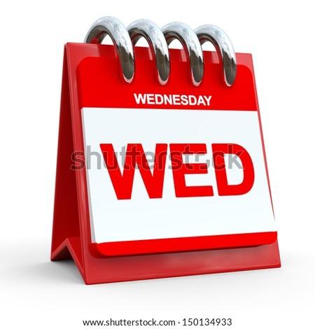 Calendar of Weekdays - stock photo