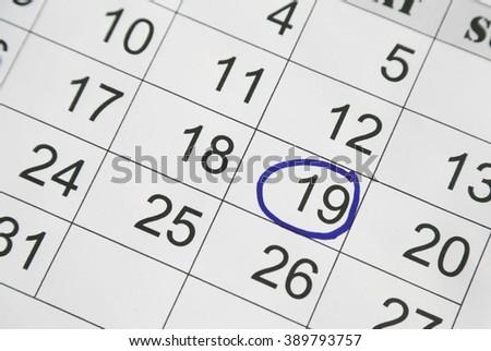 calendar, planing, schedule - stock photo