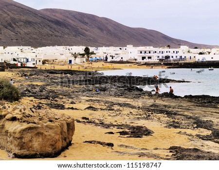 Caleta del Sebo, Graciosa Island, Canary Islands, Spain - stock photo