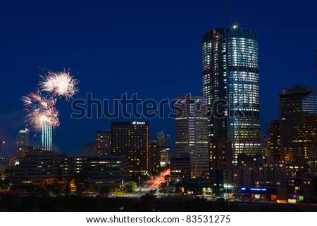 Calgary By Night - stock photo
