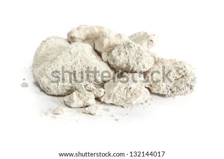 Caliche, sedimentary rock, consisting mainly calcium carbonate. Used in construction worldwide. - stock photo