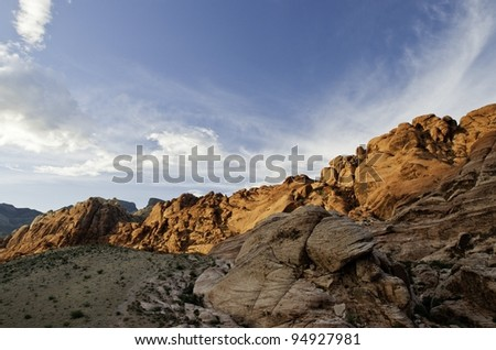 calico tanks in sunset lighting - stock photo