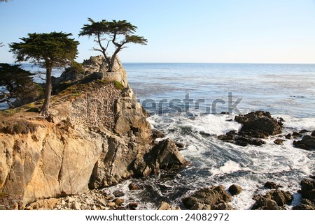 California coast - Pebble Beach 17 mile scenic drive - stock photo