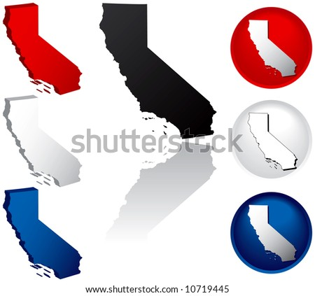 California Icons - stock photo